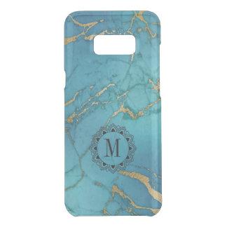 Blue & Gold Marble Stone Monogram Get Uncommon Samsung Galaxy S8 Plus Case