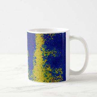 Blue Gold Mug Coffee Mugs
