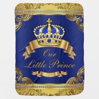 Blue Gold Prince Fancy Prince Baby Pramblankets