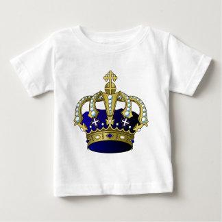 Blue & Gold Royal Crown Baby T-Shirt