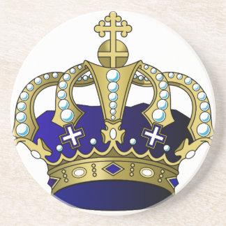 Blue & Gold Royal Crown Coaster