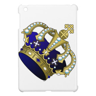 Blue & Gold Royal Crown iPad Mini Case