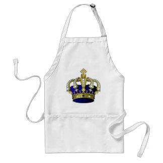 Blue & Gold Royal Crown Standard Apron