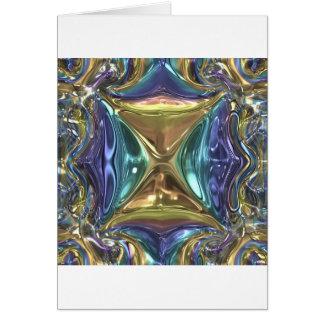 Blue gold shimmer card