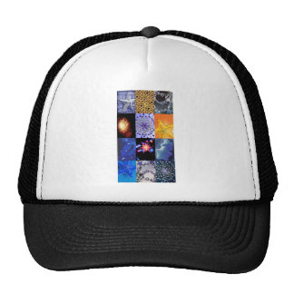 Blue & Gold Stars Photos Collage Mesh Hat