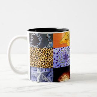 Blue & Gold Stars Photos Collage Coffee Mugs