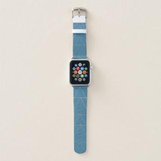 Blue & Gold Triangle Arrow Apple Watch Band