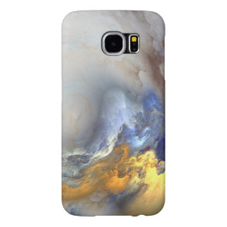 Blue Gold White Marble Abstract Sky Samsung Galaxy S6 Cases