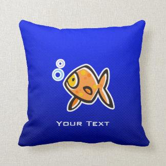 Blue Goldfish Cushion