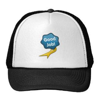 Blue Good Job Ribbon Trucker Hat