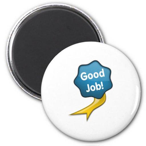 Blue Good Job Ribbon Fridge Magnets