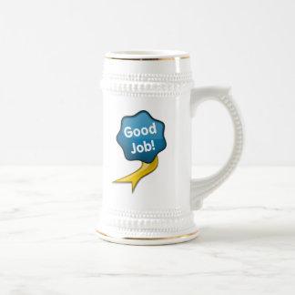 Blue Good Job Ribbon Mug