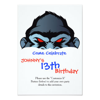 blue gorilla head card