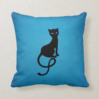 Blue Gracious Evil Black Cat Cushion