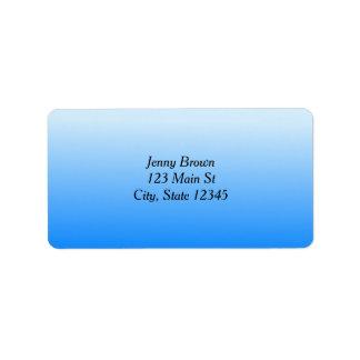Blue Gradient Colors Label