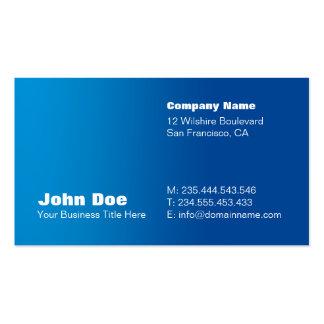 Blue Gradient Custom Business Card Template