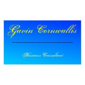 Blue Gradient Custom Generic Pack Of Standard Business Cards