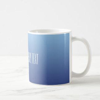 Blue Gradient custom text mugs