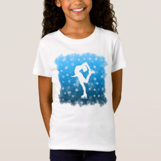 Blue Gradient Figure Skating in the White Snow T-Shirt