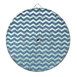 Blue Gradient on Mint Chevron Dartboard