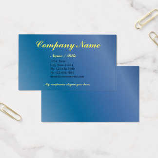 Blue Gradient Single Sided Business Template v3 Business Card