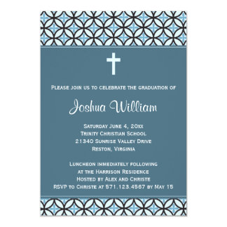 Blue Graduation Announcement / Invite