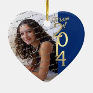 Blue Graduation Class of 2014 Ceramic Heart Decoration