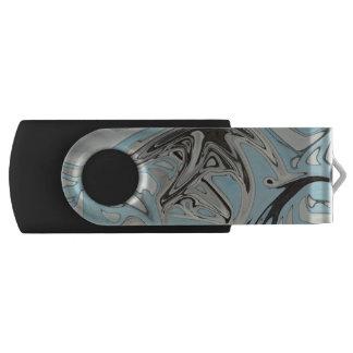 Blue Graffiti USB Flash Drive