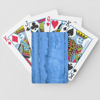 Blue granite bicycle playing cards