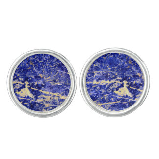 Blue Granite Cuff Links