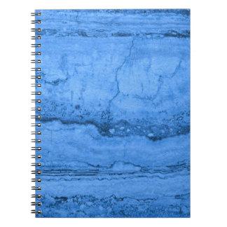 Blue granite notebook