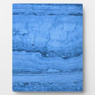 Blue granite plaque