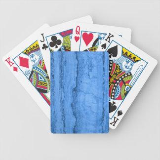 Blue granite poker deck
