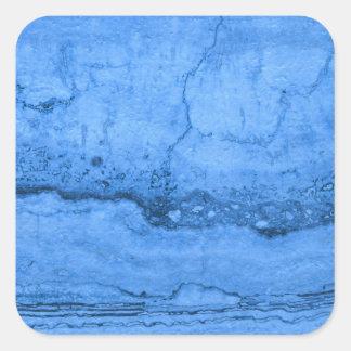 Blue granite square sticker