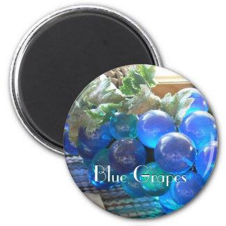 Blue Grapes 2 6 Cm Round Magnet