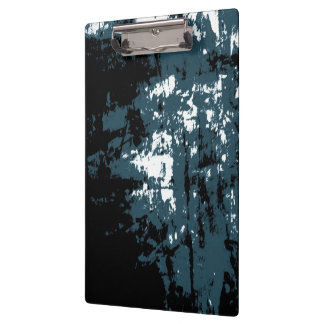 Blue Gray Abstract Modern Landscape Clipboard