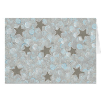 Blue Gray Bubbles & Silver Stars Cards