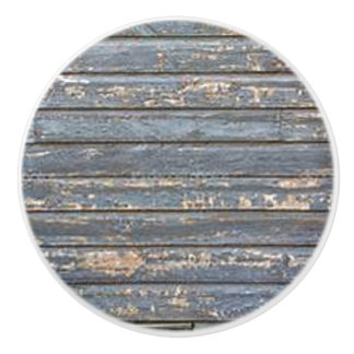 Blue Gray Clapboard Ceramic Knob