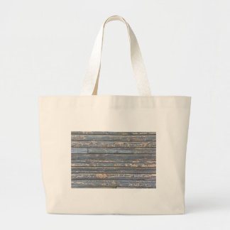 Blue Gray Clapboard Large Tote Bag