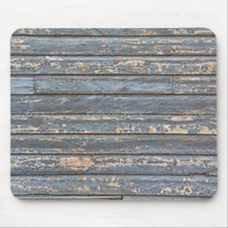 Blue Gray Clapboard Mouse Pad