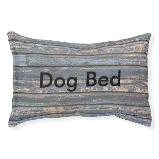 Blue Gray Clapboard Pet Bed