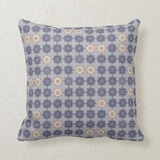 "Blue gray decorative cushion, 2 faces, ""MILADY "" Cushion"