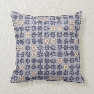 "Blue gray decorative cushion, 2 faces, ""MILADY "" Throw Pillow"