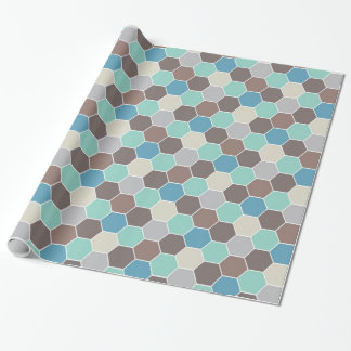 Blue & Gray Geometric Wrapping Paper
