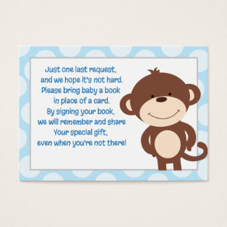 Blue/Gray Monkey Enclosure Book Request Card