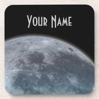 Blue Gray Moon Drink Coaster