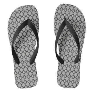Blue Gray Slate Motif with Black Straps Thongs