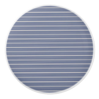 Blue Gray Stripes Ceramic Knob
