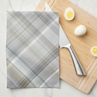 Blue/Gray/Tan Plaid Tea Towel
