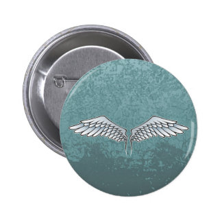 Blue-gray wings 6 cm round badge